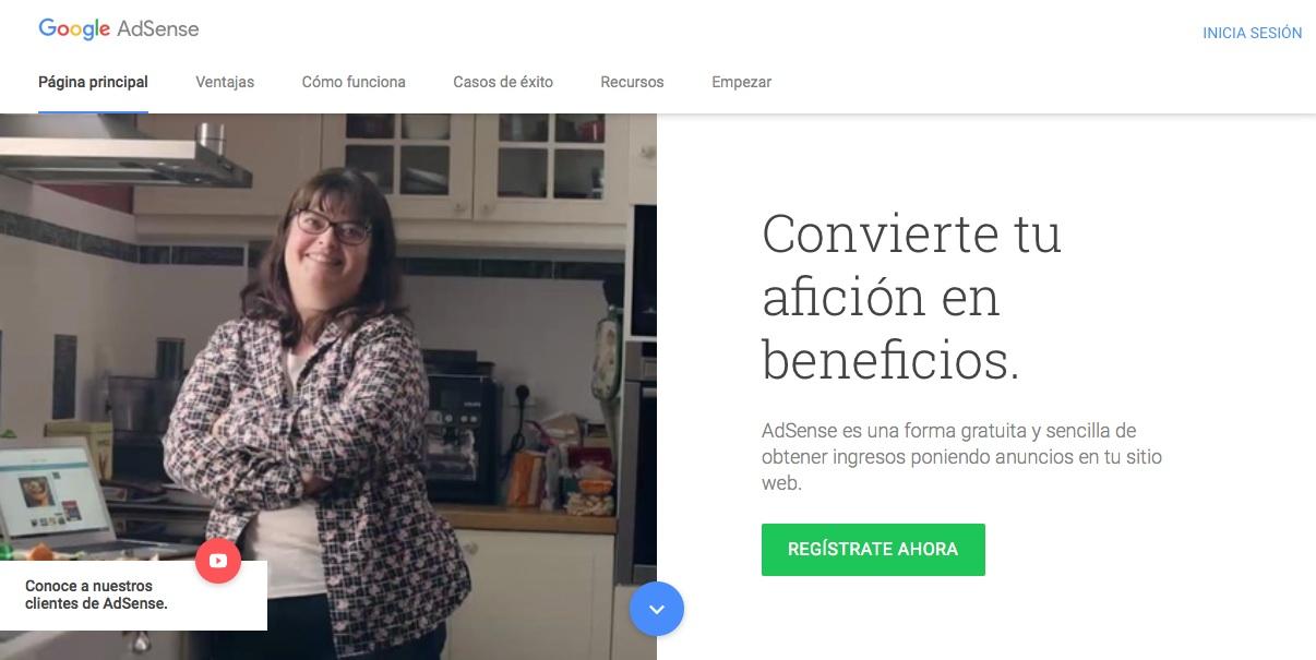 webs que te ayudarán a ganar dinero con un blog: Google Adsense
