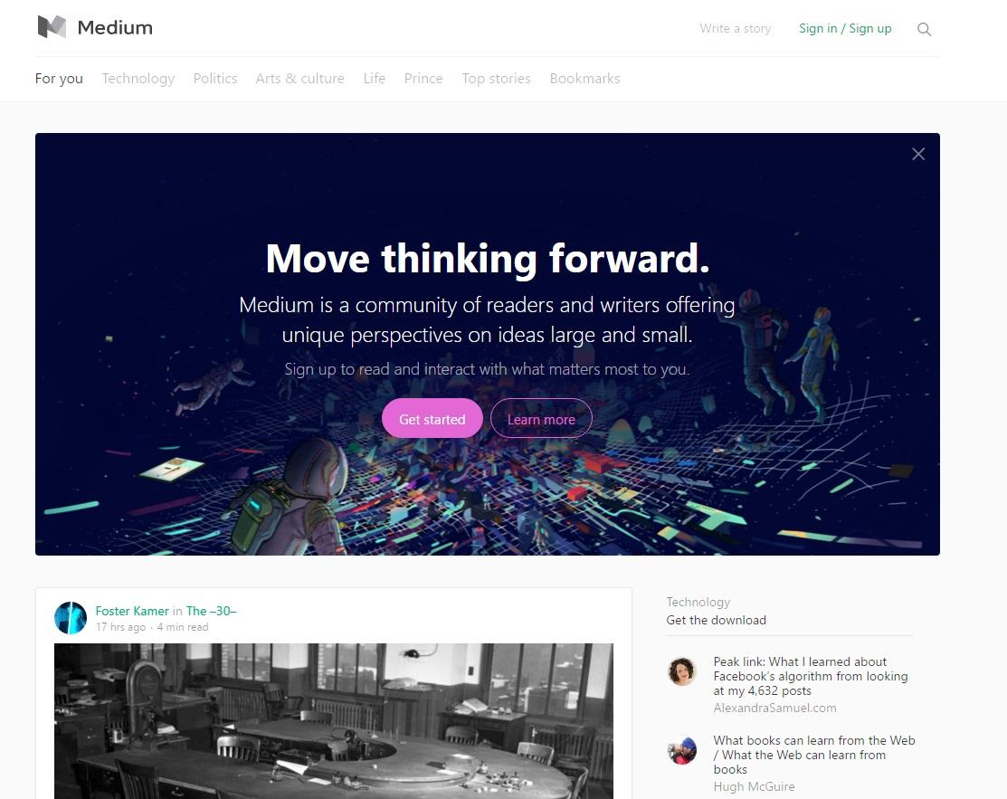 plataformas para blogs: Medium
