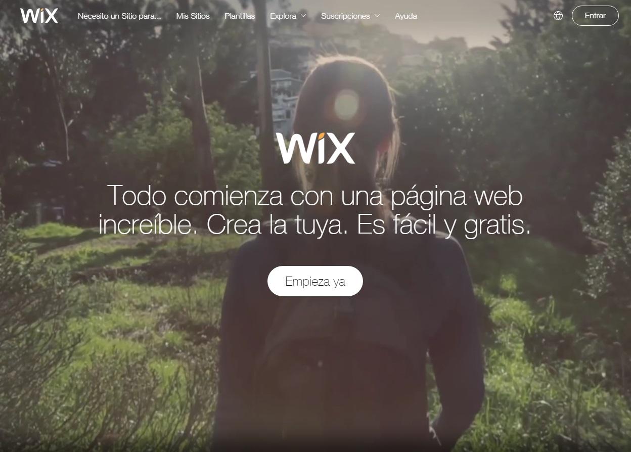 plataformas para blogs: Wix