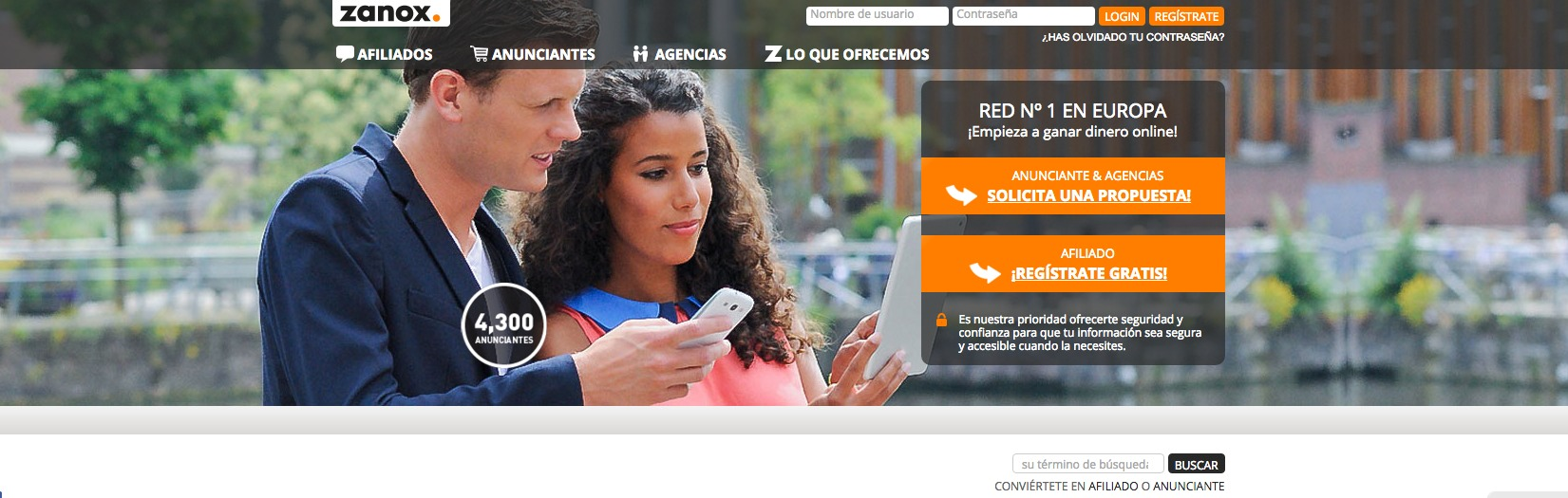 plataformas de marketing de afiliación: Zanox