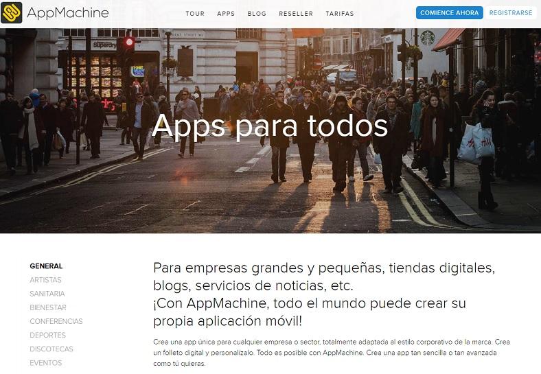 convertir un blog en app con AppMachine