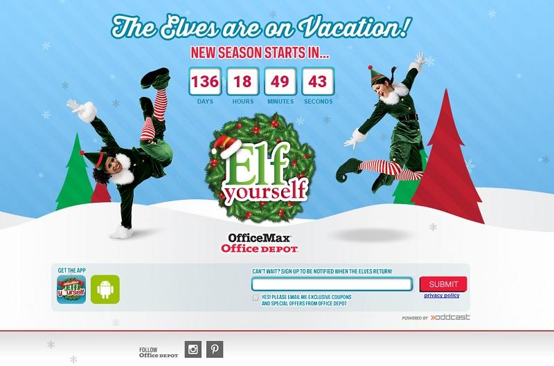 campañas de marketing digital estacionales : Elf Yourself