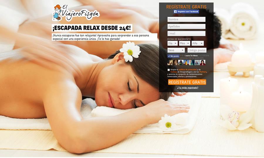 Landing page de El Viajero Fisgón