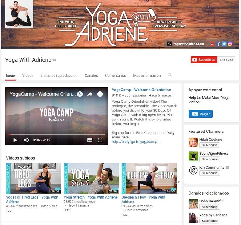 YogawithAdrieneInfluencer