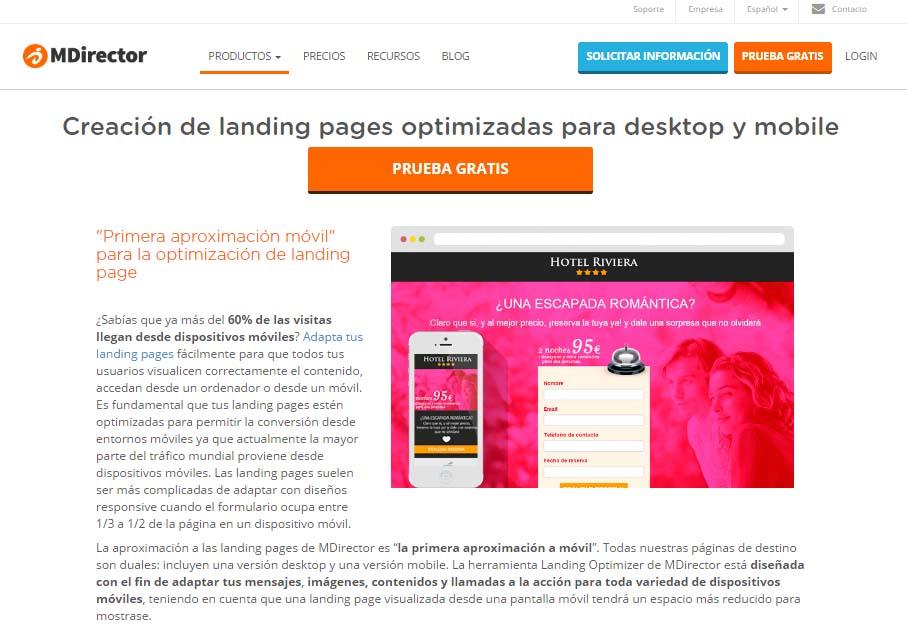 herramientas de inbound marketing : Landing Optimizer