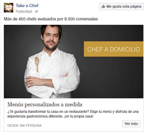 promoted post de Facebook