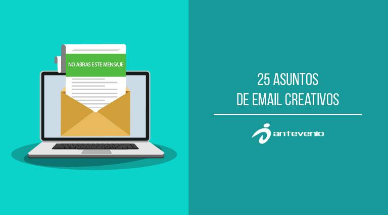 asuntos de email creativos