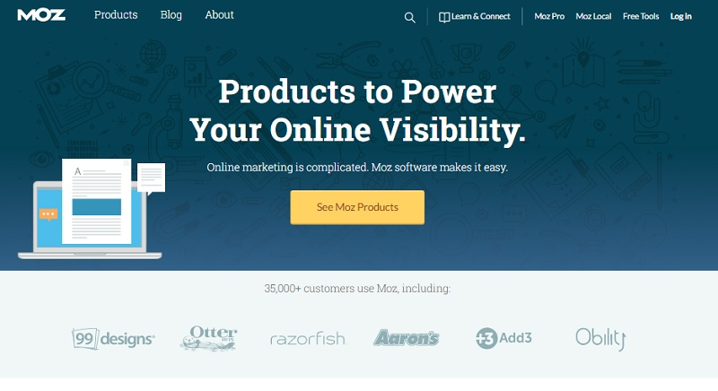 Domain authority y Page authority de Moz