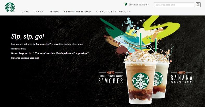 Formatos de publicidad nativa: Starbucks