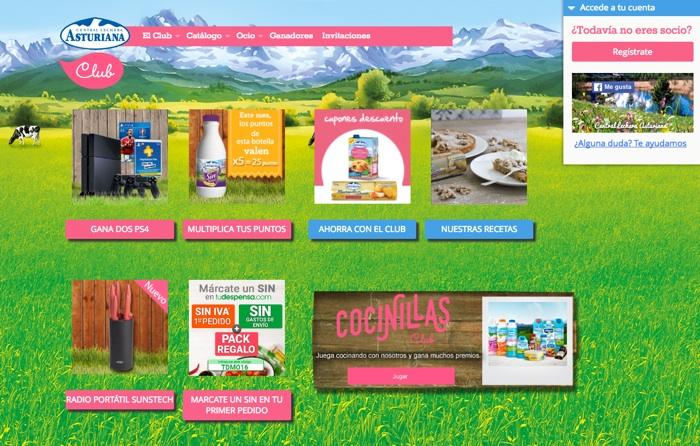 campañas de captación de registros: Central Lechera Asturiana