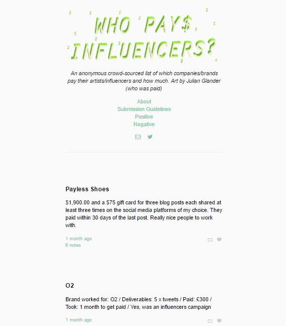 precio de una campaña con influencers - Who pays influencers