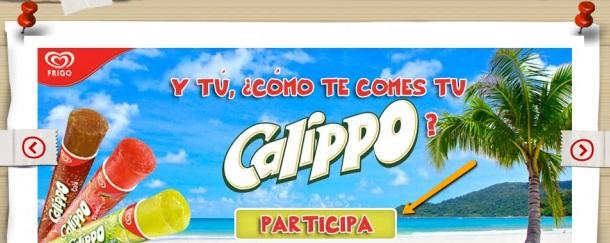 CTAs para mejorar la conversión: Calippo