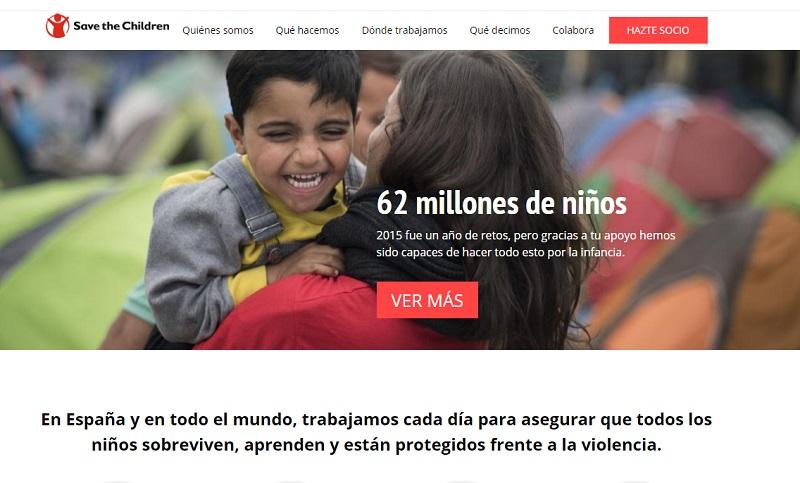 CTAs para mejorar la conversión: Save the children