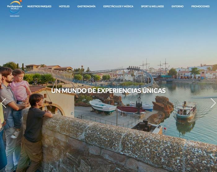 crear landing pages: port aventura