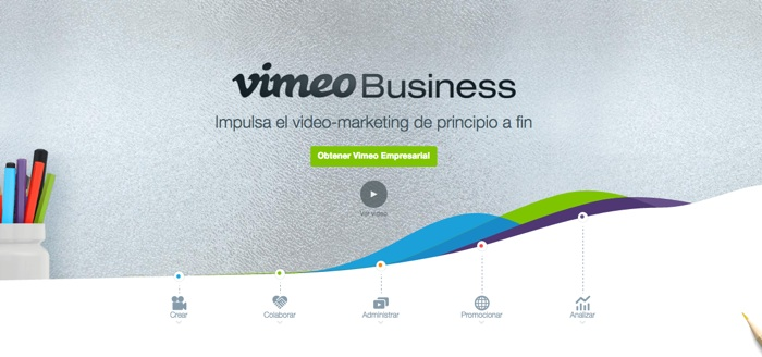 crear landing pages: Vimeo