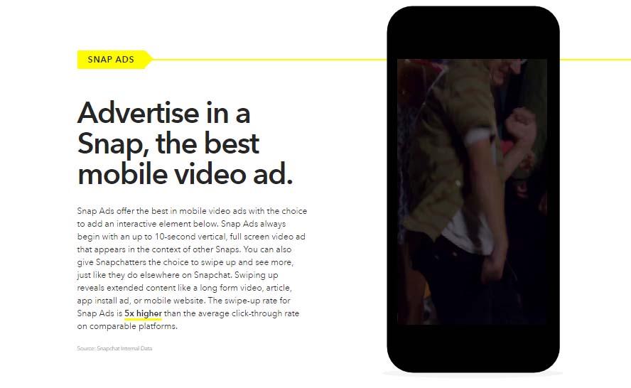 Guia de publicidad en Snapchat: Snap Ads