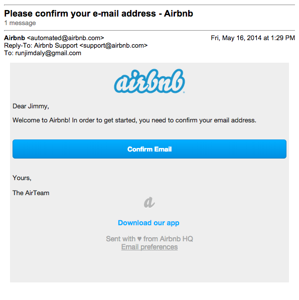 doble optín en AirBnb