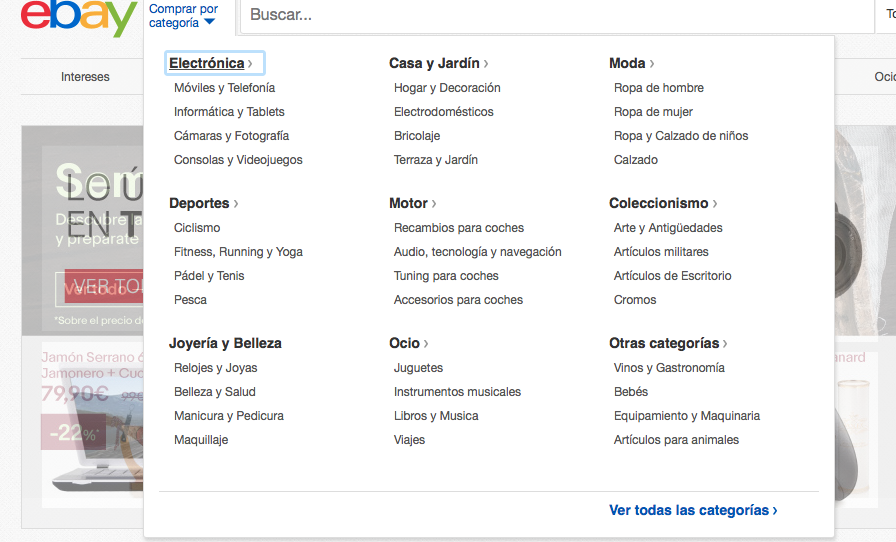 SEO en eBay : directorio