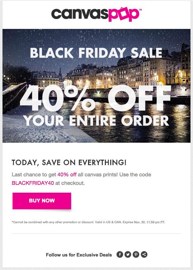email marketing para Black Friday