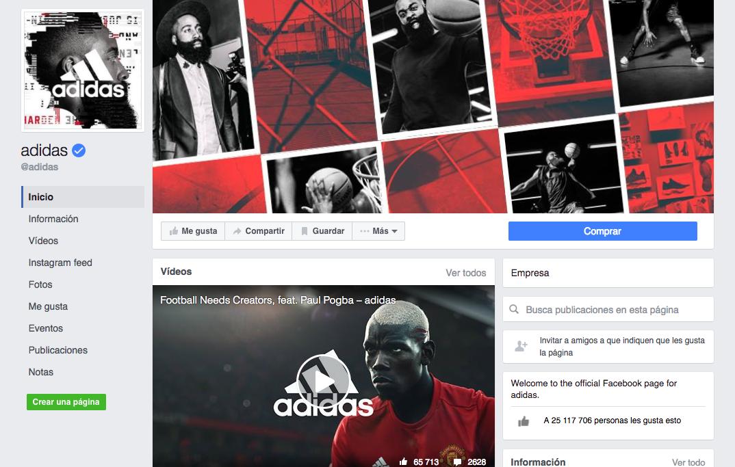 Mejores prácticas de marketing digital : Adidas