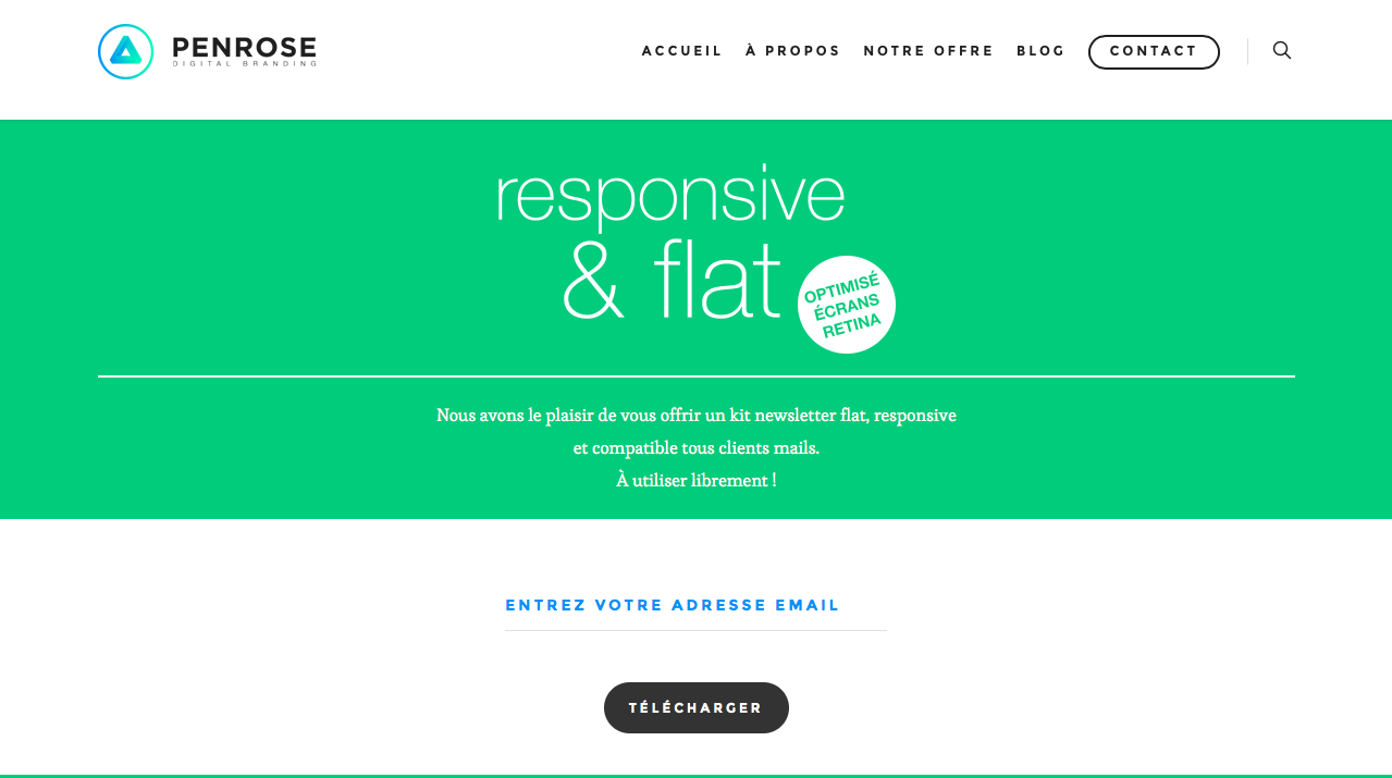 templates para newsletters mobile: penrose