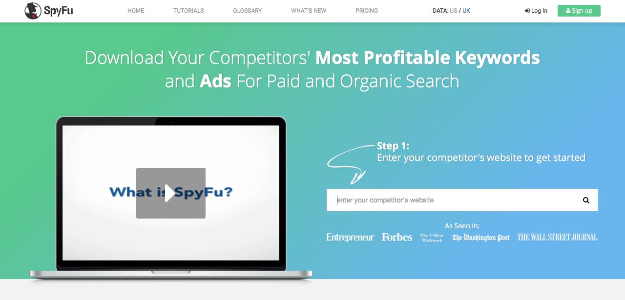 elegir las mejores keywords: Spyfu
