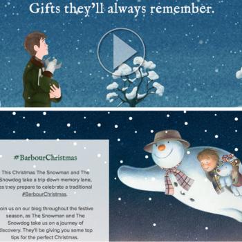 marketing digital navideño : Barbour