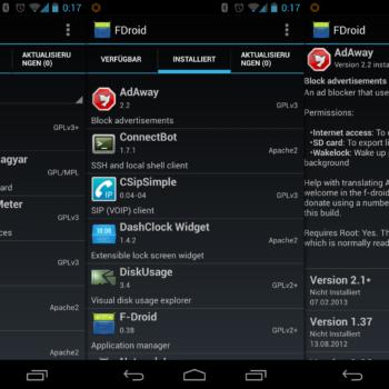 canales de descarga de apps: F Droid