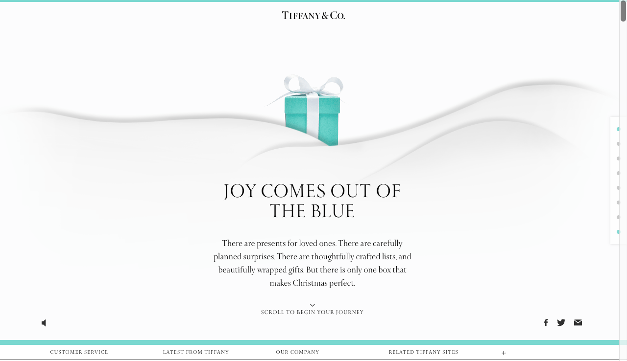marketing digital navideño: Tiffany's