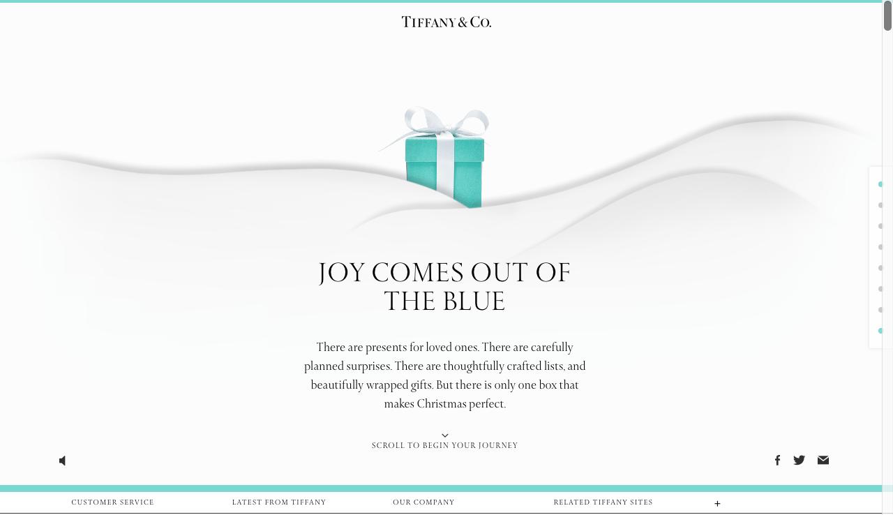 marketing digital navideño: Tiffany's