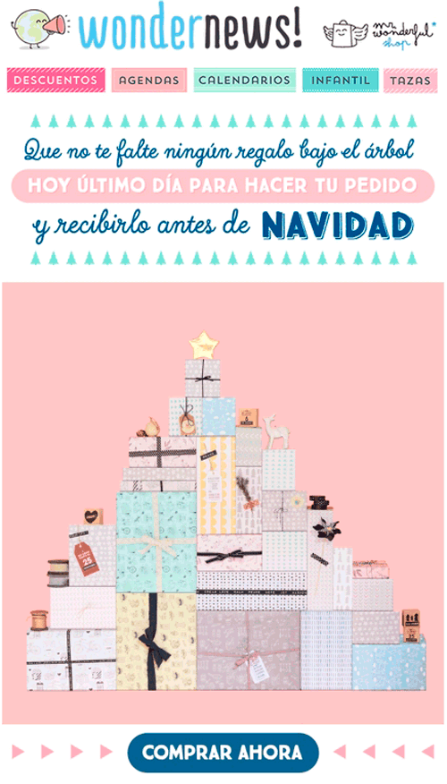 marketing digital navideño: wondernews