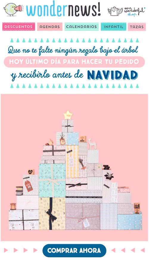 marketing digital navideño: wondernews