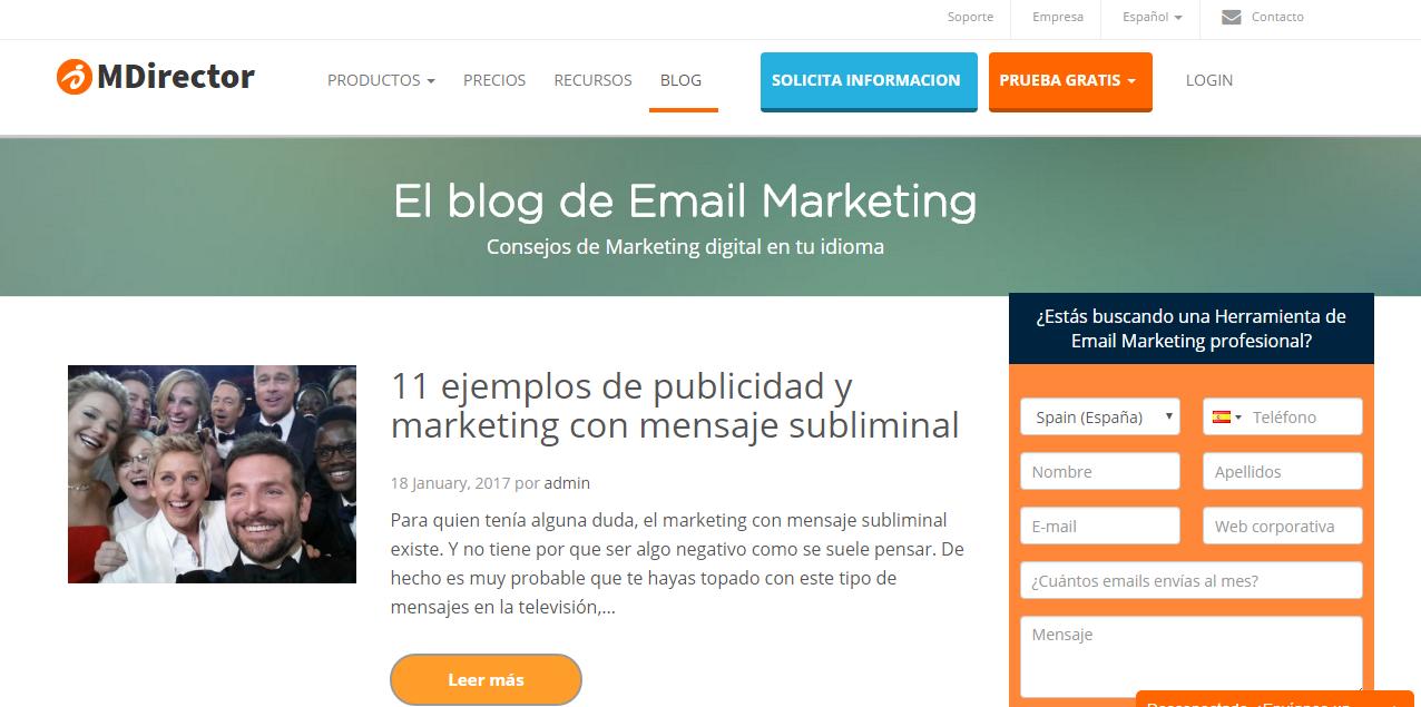 Blog de MDirector