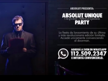 campañas en WhatsApp: Absolut