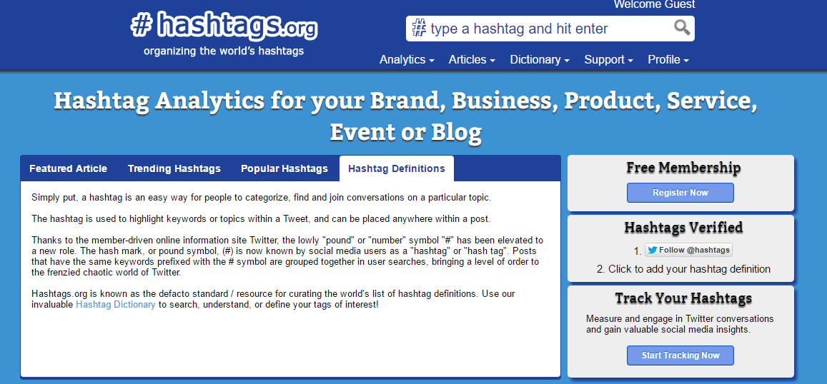 herramientas para analizar hashtags: Hashtags.org