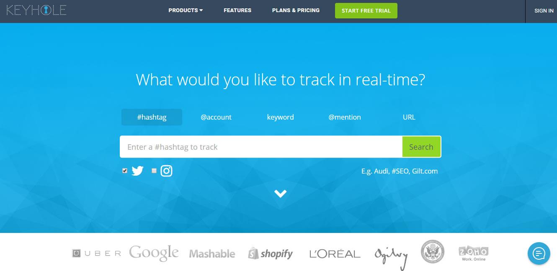 herramientas para analizar hashtags: Keyhole