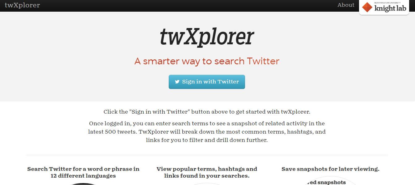 herramientas para analizar hashtags: twXplorer