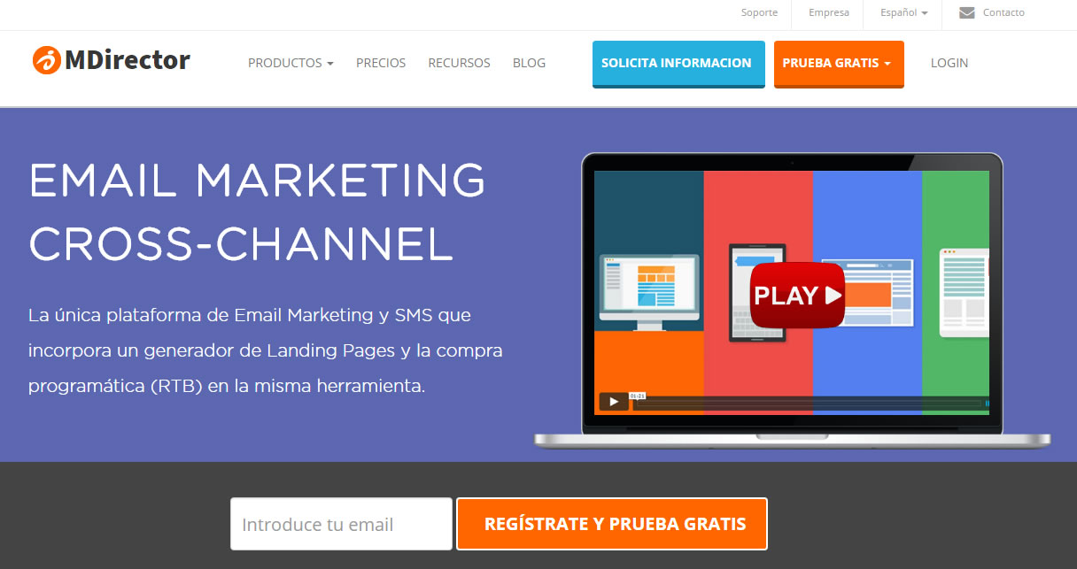 herramientas de email marketing: MDirector