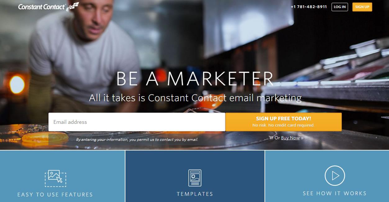 software para envio masivo de email: Constant Contact