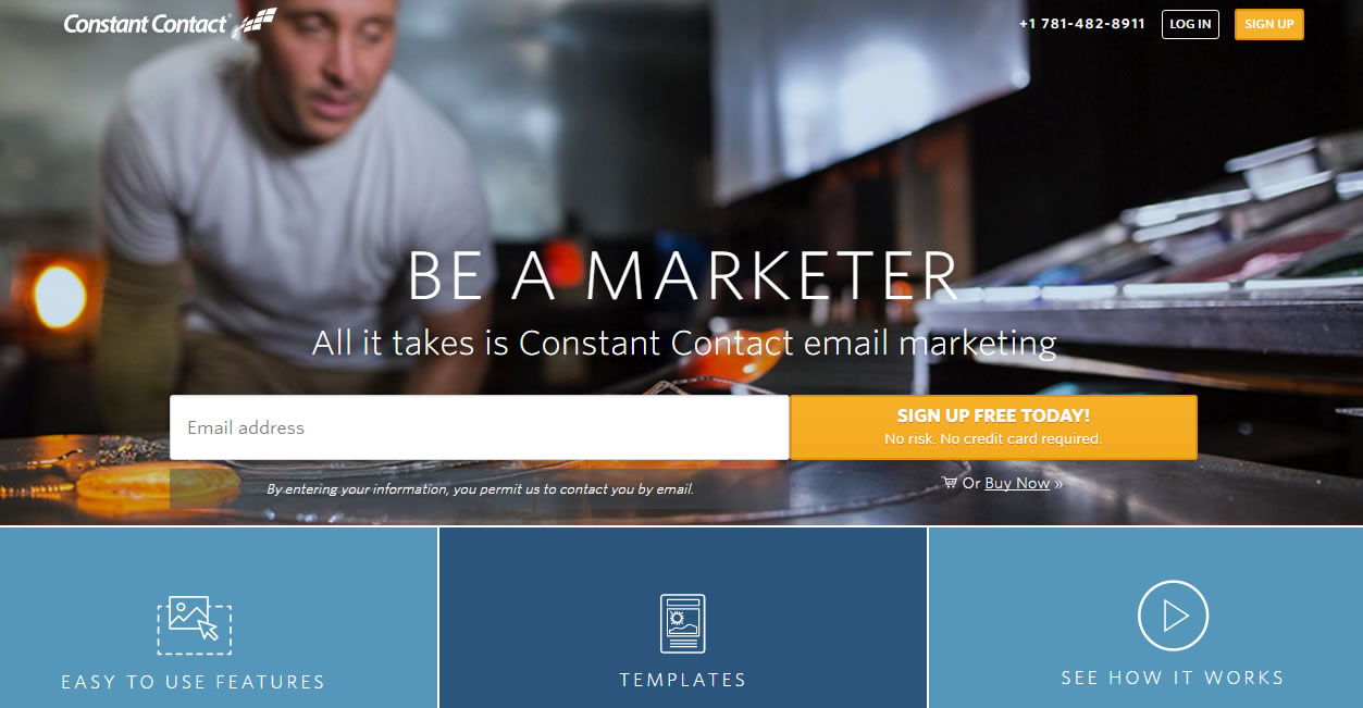 herramientas de email marketing: Constant Contact