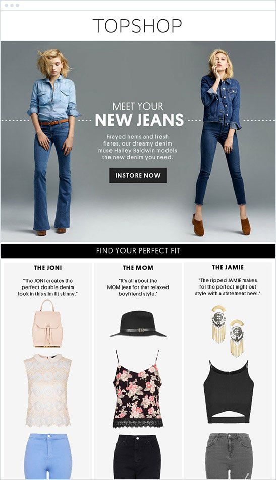 email marketing para retener clientes: Top Shop