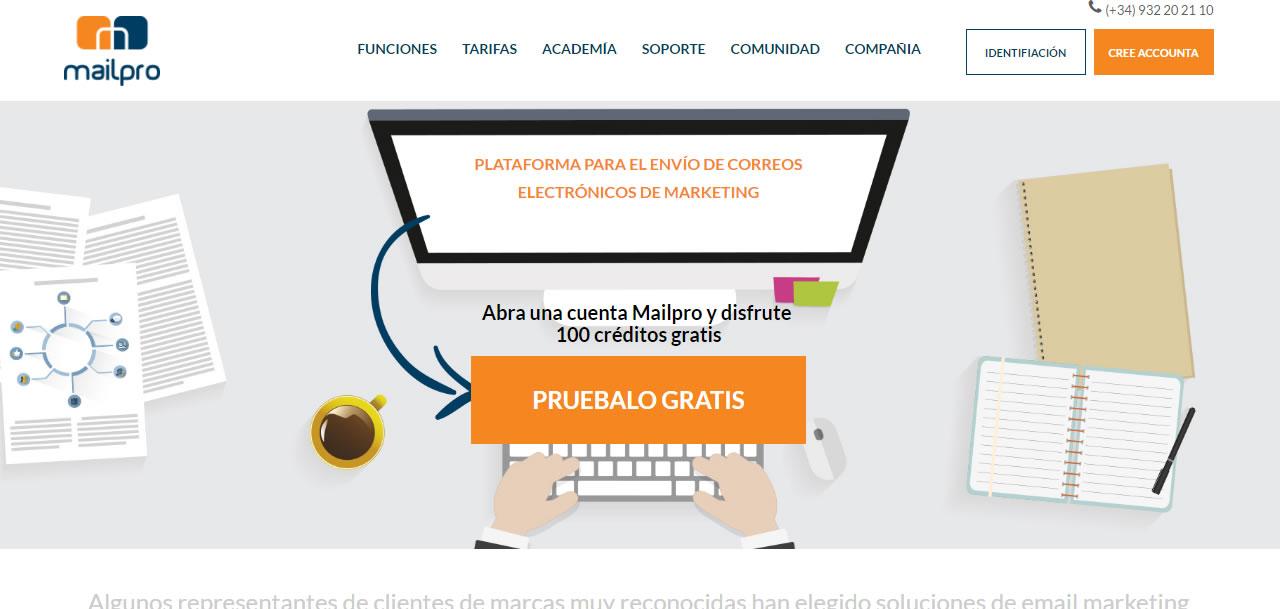 software para envío masivo de correos electrónicos: Mailpro