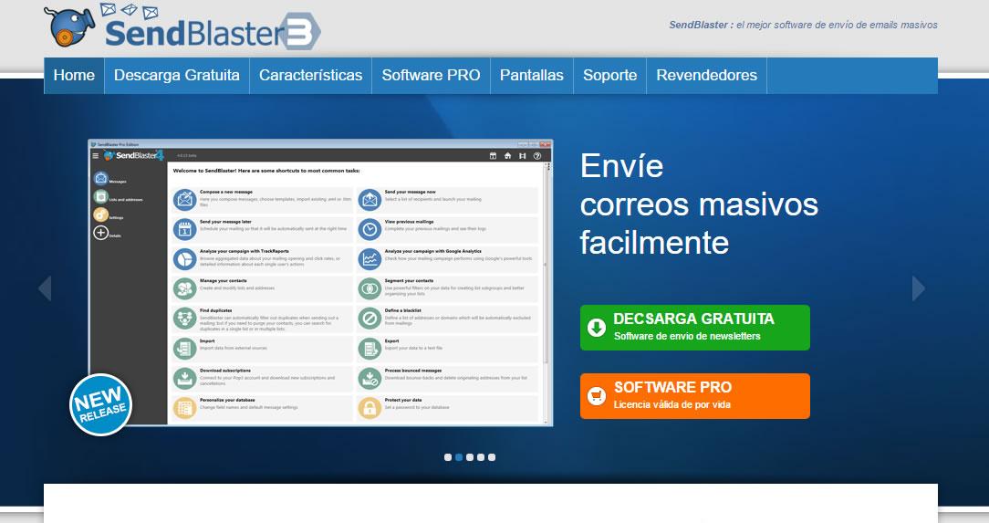 software para envío masivo de correos electrónicos: Sendblaster