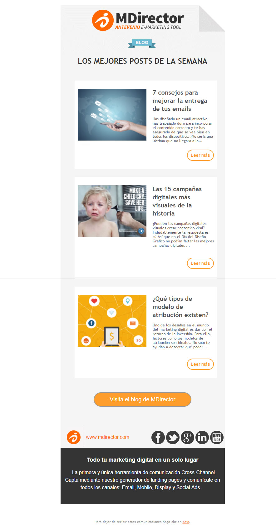 ejemplo de email marketing automation