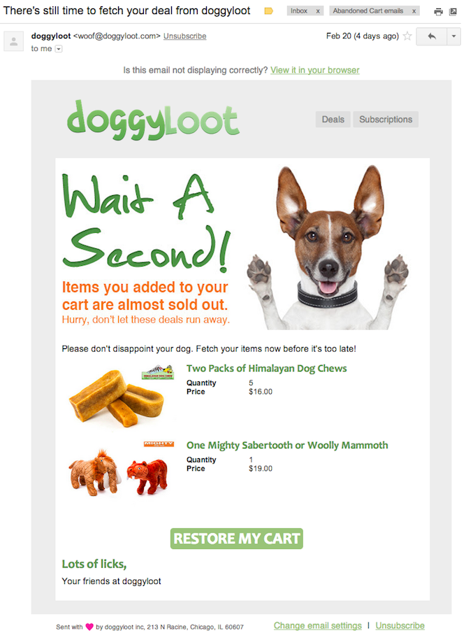 emails transaccionales para aumentar ventas