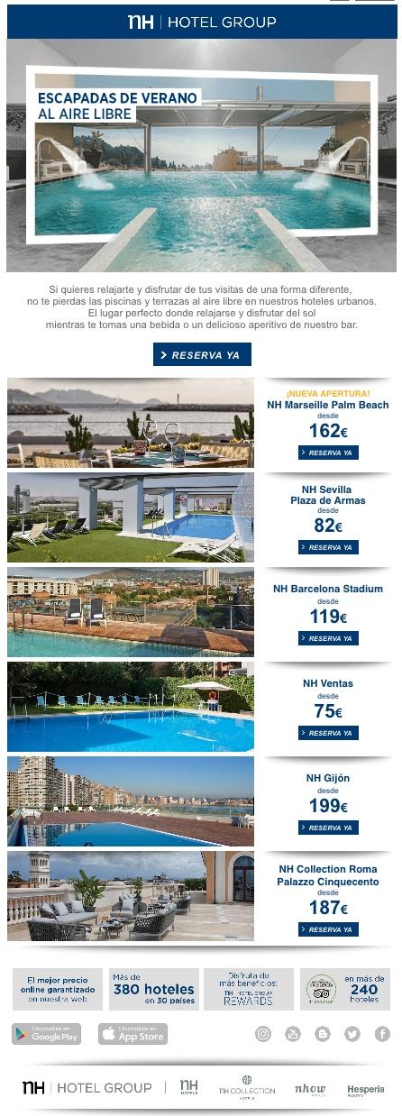 newsletters para incrementar las conversiones: NH Hotel Group