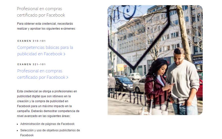 Profesional en compras certificado por Facebook