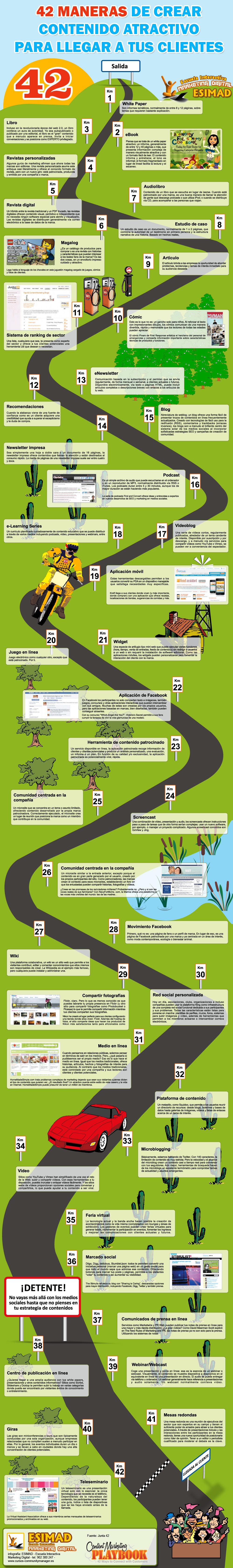 contenidos atractivos para aprender en redes sociales