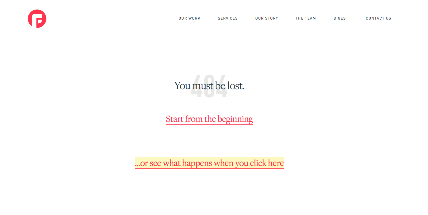 ejemplos de páginas 404: Focuslab