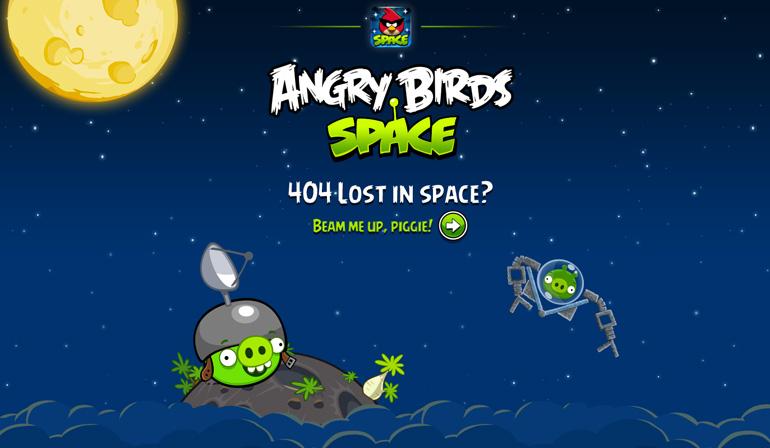 ejemplos de páginas 404: Angry Birds